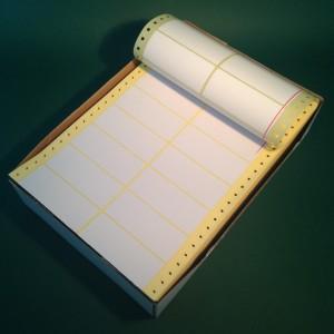 Leporelló etikett 88,9x36,1 mm