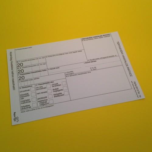 C7976-2013 Tértivevény (2000 db/cs)